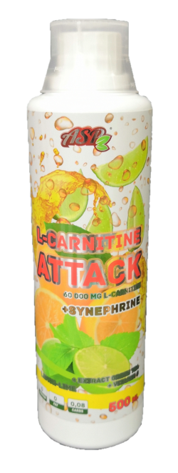 ASP L-carnitine ATTACK 1000мл. «лимон-лайм»